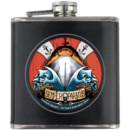 Coast Guard Semper Paratus Tattoo Design Leather Wrapped 6oz.