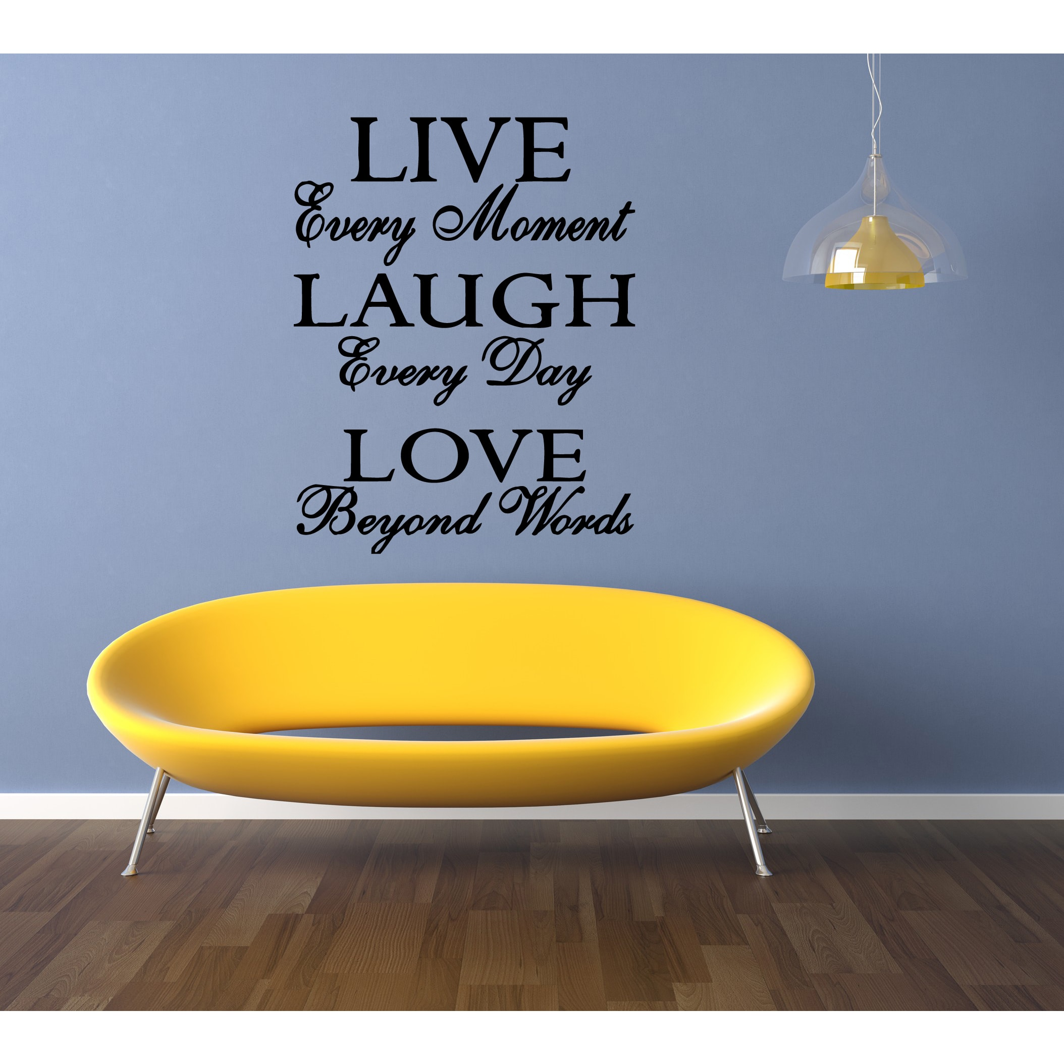 Stickalz llc Live Every Moment quote Wall Art Sticker Decal ...