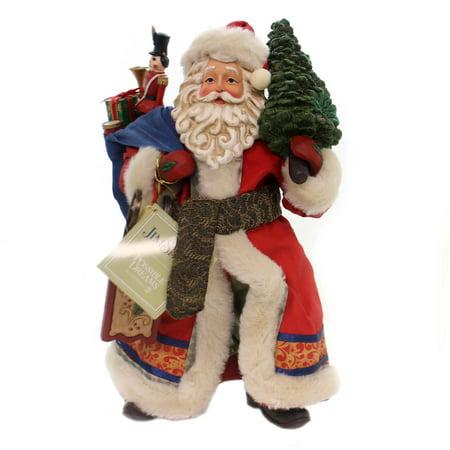 Limited Edition Santa Ornament (Jim Shore LIMITED EDITION SANTA Polyresin Santa Clothtique 6001340)