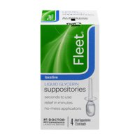 Fleet® Liquid Glycerin Laxative Suppositories 7.5ml 4 ct Box