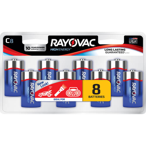 Rayovac Alkaline Value Pack C Batteries, 8-pack