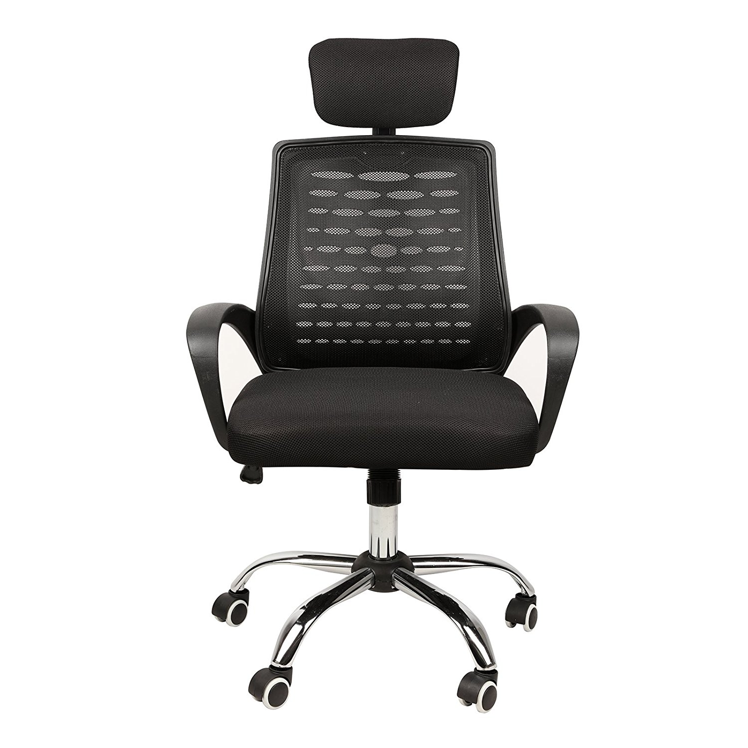 Delicieux Modern Home Computer Office Desk Chair With Armrest And Headrest Black