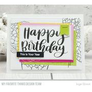 My Favorite Things Die-namics Hot Foil Die-Impressive Happy Birthday