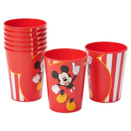 American Greetings Mickey Mouse 16oz Plastic Party Cups, 8-Count - Mickey Mouse 1st Birthday Party Ideas