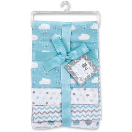 Royal Blue Receiving Blanket - Cribmates 4-Pack Flannel Receiving Blankets - Turquoise