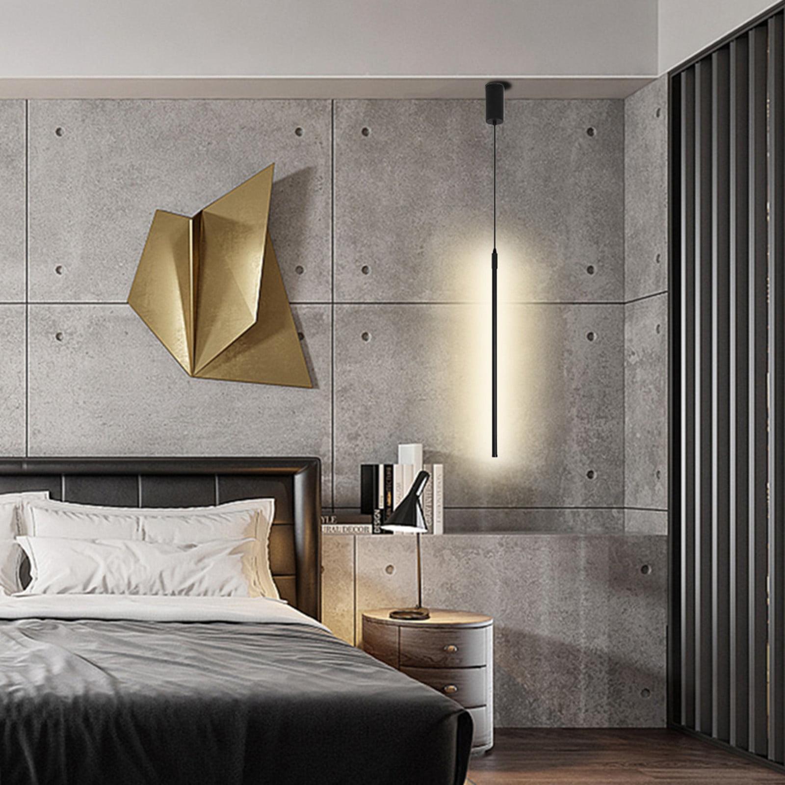 Xiaojmake Modern Led Pendant Light Black Chandelier Hanging Ceiling Lamp Fixture Bedroom Walmart Com Walmart Com