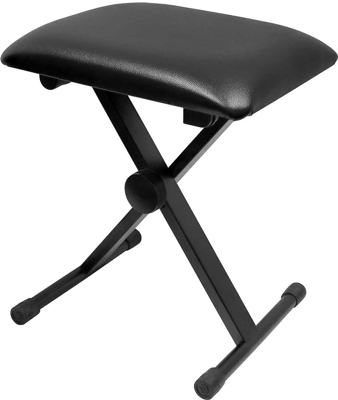 Greenpro Adjustable X Style Cushion Padded Piano Keyboard Bench, Black by GreenPro