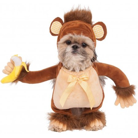 Walking Monkey Chimpanzee Gorilla Banana Pet Dog Cat Halloween Costume (Dog Football Costumes Halloween)