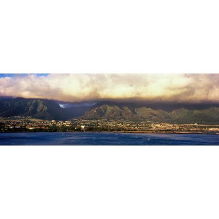 View of a city at the waterfront Maui Hawaii Islands Hawaii USA Poster Print - Halloween City Hawaiian Gardens
