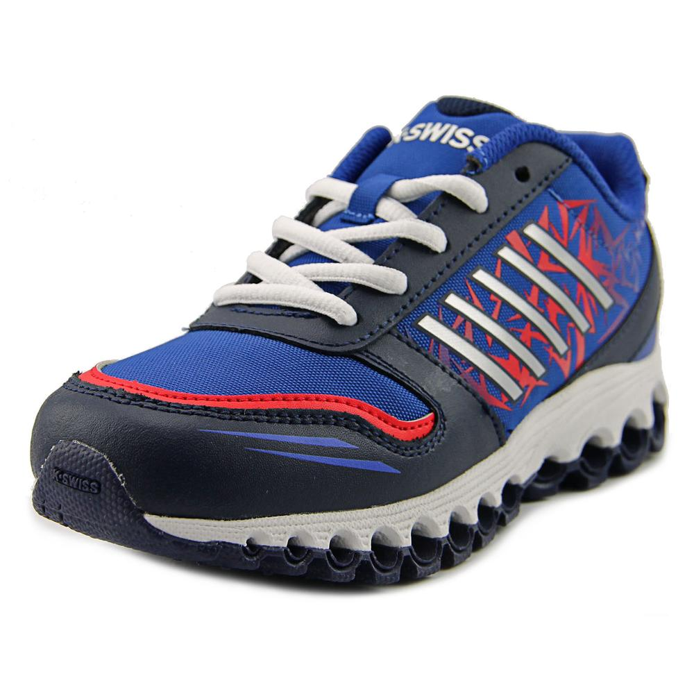 K-Swiss 55041-442 Youth Round Toe Leather Blue Running Shoe by K-Swiss