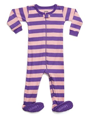 Leveret Organic Cotton Tie-Dye Blue Footed Pajama Sleeper 5 Years