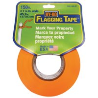 Hy-Ko 150' Orange Flagging Tape, Reusable, Weather-resistant