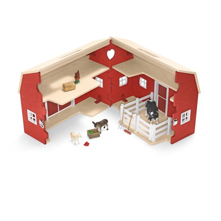 Schleich Portable Barn With Animals