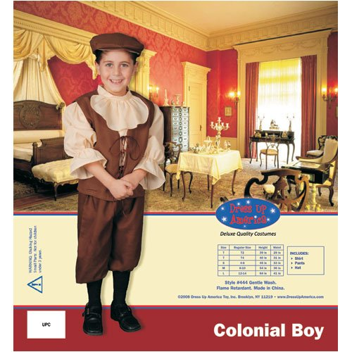 Dress Up America Colonial Boy Children's Costume