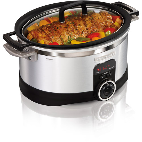 Hamilton Beach 6-Quart Programmable Searing Slow Cooker, Silver