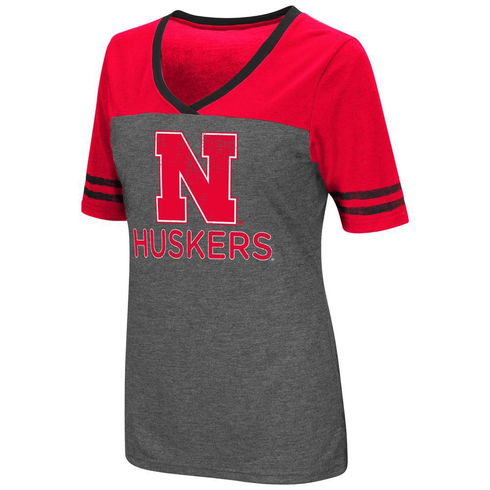 Ladies Colosseum Mctwist Nebraska Cornhuskers Jersey T Shirt
