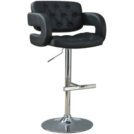 Bowery Hill Adjustable Bar Stool in Black and Chrome - image 2 de 2