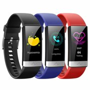 V19 Smart Watch, Blood Oxygen SpO2 Heart Rate Monitor Fitness Activity Tracker, IP68 Waterproof with HRV Sleep Health Monitor Smartwatch for Android iOS phones-Red