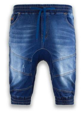 78178b0f38d8 Product Image NEW Men Denim Jogger Shorts Jean Elastic Waist 4 Pocket Blue  Short Sizes 30-40åÊ