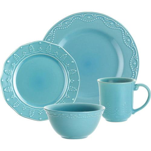 Paula Deen 16-Piece Whitaker Dinnerware Set