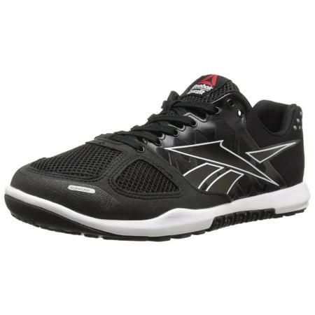 3be5889c204cbb Reebok - Reebok Men s R CrossFit Nano 2.0 Athletic Training Shoes Black White  (14.0M) - Walmart.com