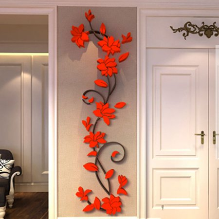 Tommyfit DIY 3D Removable Wall Sticker Acrylic Decal Mural Flower Home Room Decor](Diy Halloween Room Decor)
