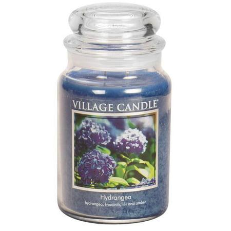 Hydrangea Candle Ring (Village Candle 106026309 Hydrangea 26 oz Jar )