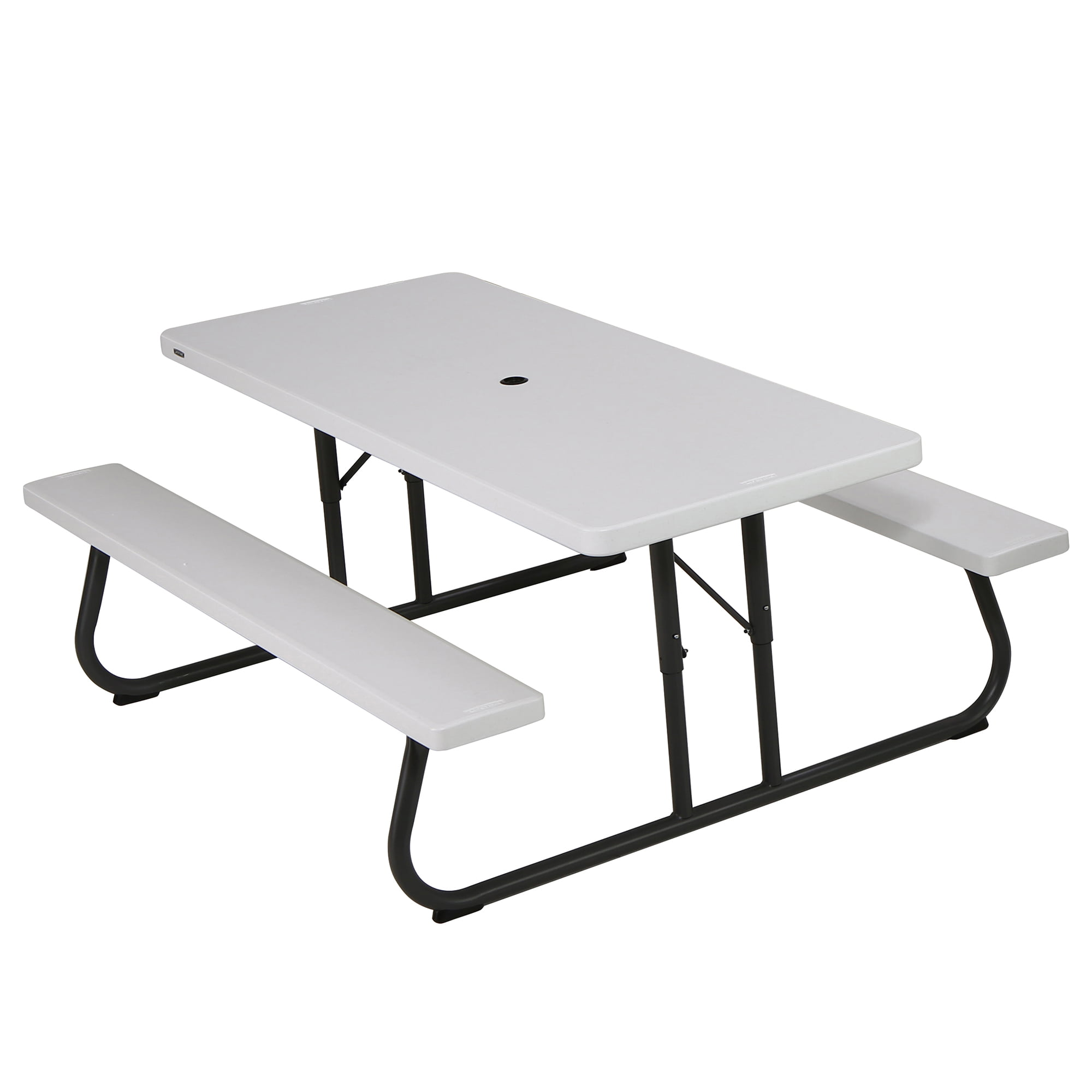 Lifetime 6 foot Picnic Table, White Granite, 80215 by Lifetime Products