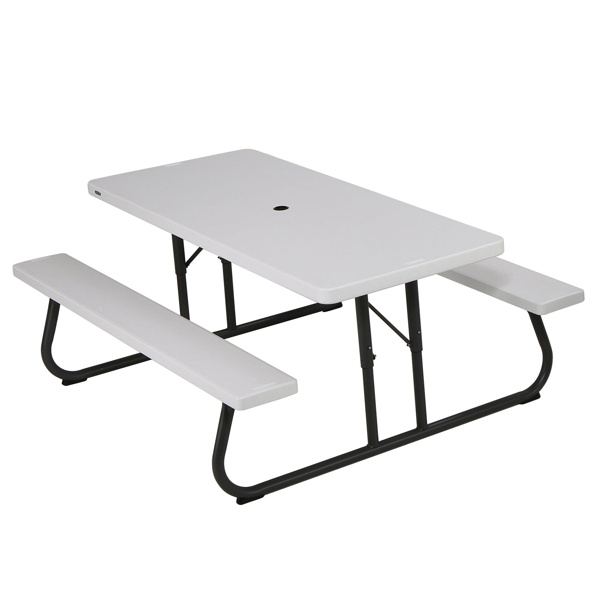 Lifetime 6 foot Picnic Table, White Granite, 80215