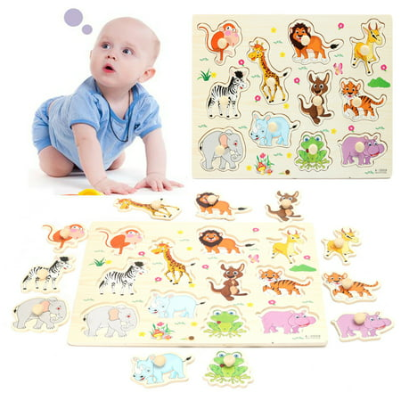 Abc Zoo Alphabet Puzzle - Grtsunsea Wooden Zoo Animal / Alphabet ABC Peg Jigsaw Puzzle Toy Toddlers Early Learning Educational Plate Gift