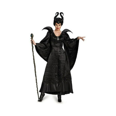 Disney Maleficent Movie Christening Black Gown Womens Costume deluxe