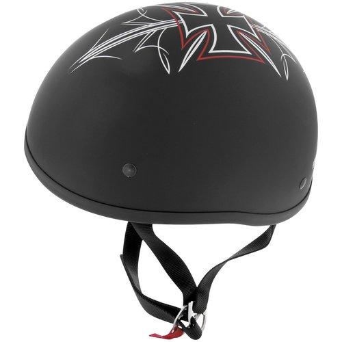 Skid Lid Street Rod Half Helmet Flat Black