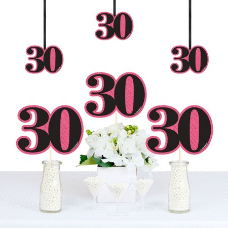 Chic 30th Birthday - Decorations DIY Party Essentials - Set of 20