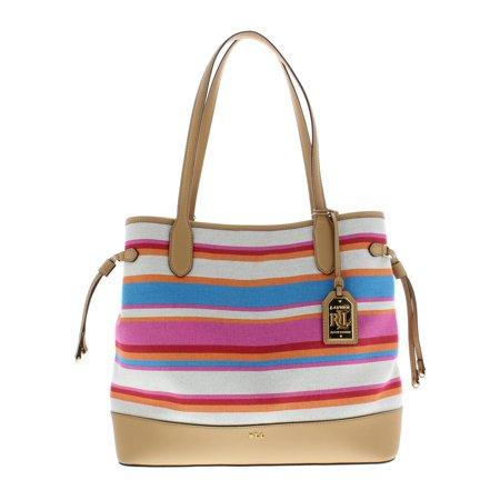 Lauren Ralph Lauren - Lauren Ralph Lauren Womens Piedmont Adalyn Striped Tote  Handbag Multi Large - Walmart.com 7023586997