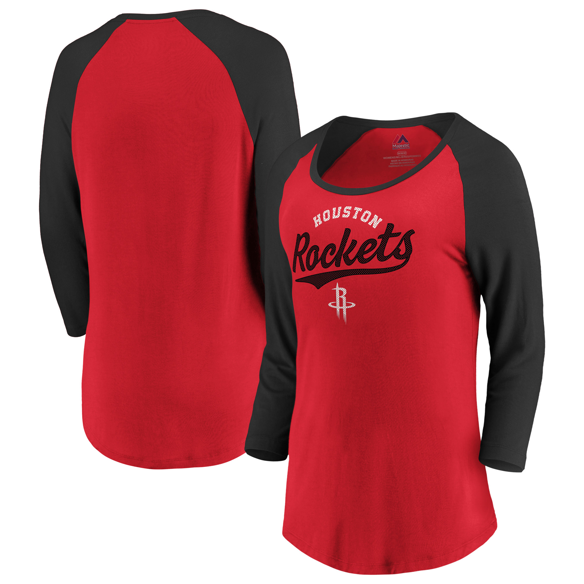 Houston Rockets Fanatics Branded Women's This Decides It 3/4-Sleeve T-Shirt - Red/Black