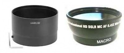 Includes Lens Adapter Tube Macro Lens for Panasonic Lumix DMC-FZ18 +4 iConcepts Close Up