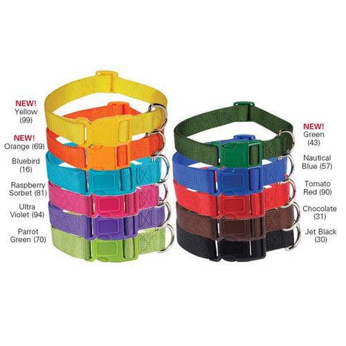 """New Zack /& Zoey Nylon Dog Neck Collar 5//8/"""" Adjusts 10/"""" Tomato Red 16/"""""""