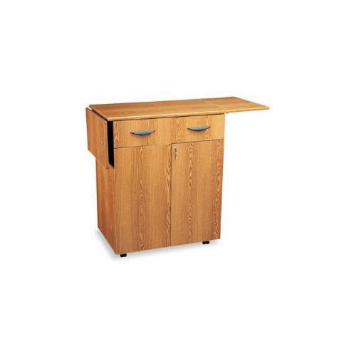 Hospitality Service Cart, One-Shelf, 32-1/2w x 20-1/2d x 38-3/4h, Medium Oak