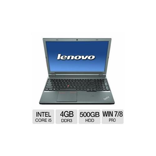 "Lenovo ThinkPad T540p Intel Core i5 4GB Memory 500GB HDD 15.6"" Notebook Windows 7 Professional / Windows 8 Pro 64-Bit -"