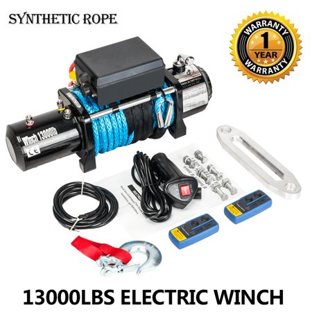 Ktaxon 13000Lb Electric Recovery Winch Towing Off-Road ATV Synthetic Rope W/