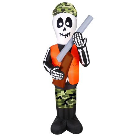 7' INFLATABLE SKELETON HUNTER - Hunter Skeleton