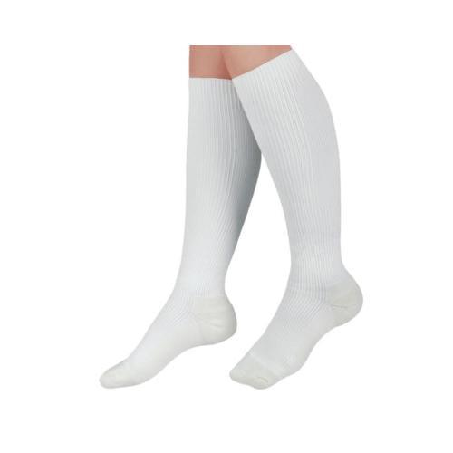 Medline CURAD Cushioned Compression Socks,White,C MDS1715CWH