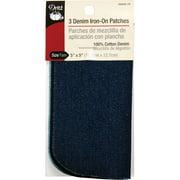 Dritz Iron On Patches Denim Black, Stonewash, Dark 5x 5 3pc