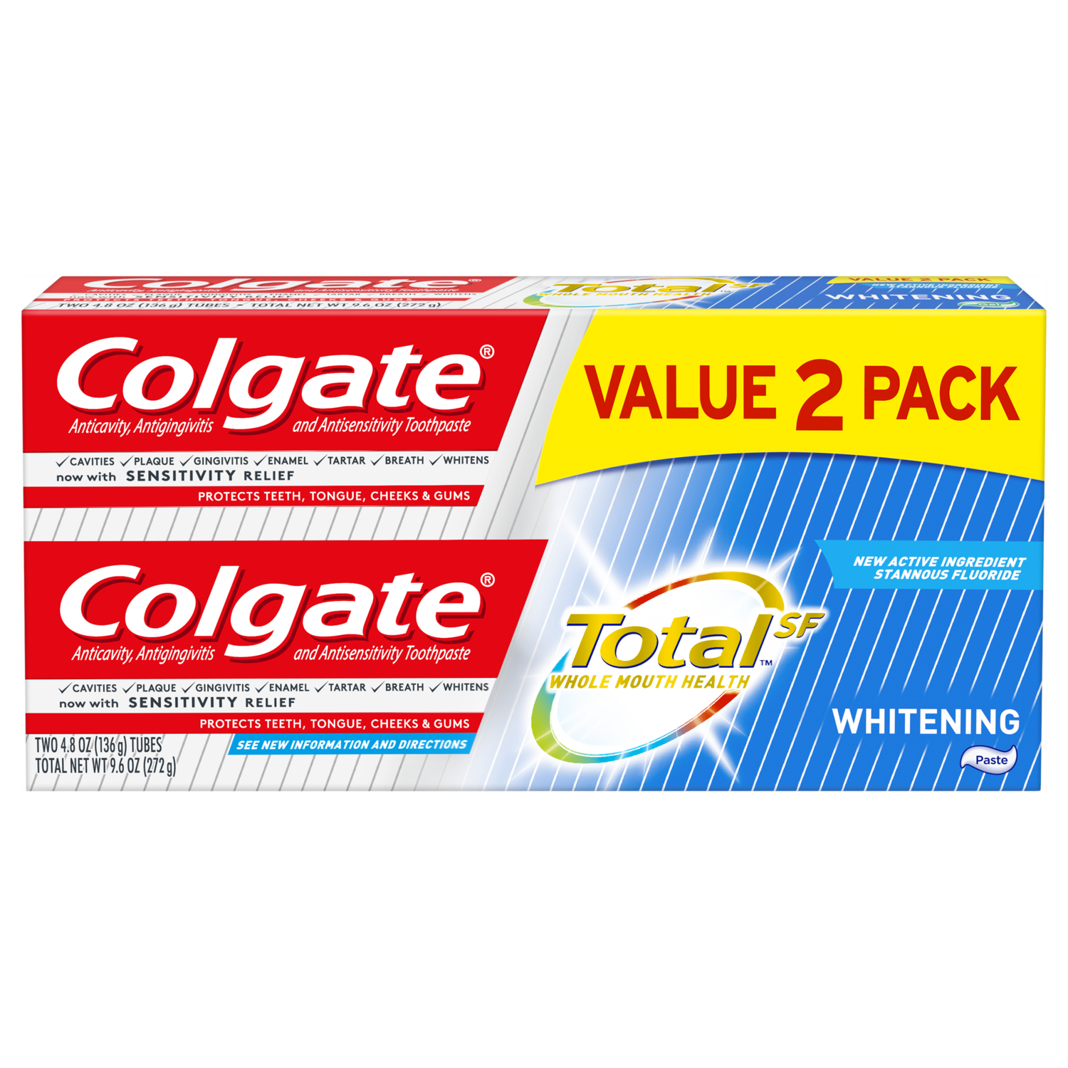 Colgate Total Whitening Toothpaste 4 8 Ounce 2 Pack Walmart
