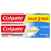 Colgate Total Whitening Toothpaste with Fluoride, Multi Benefit Toothpaste with Sensitivity Relief, 4.8 Oz, 2 Ct