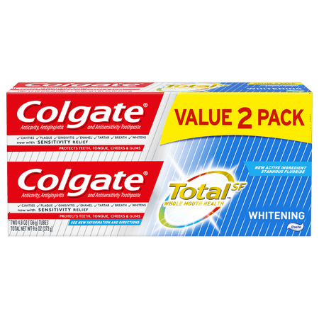 Colgate Total Whitening Toothpaste, 4.8 oz.