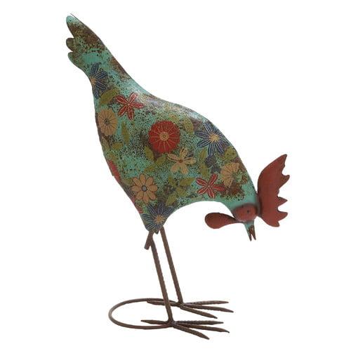 UMA Enterprises Rooster with Head Down Garden Sculpture