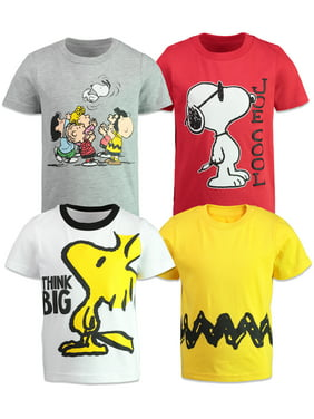 White /& Cool Patriotic T-Shirt 5 Peanuts Boys Snoopy /& Woodstock Shirt Red