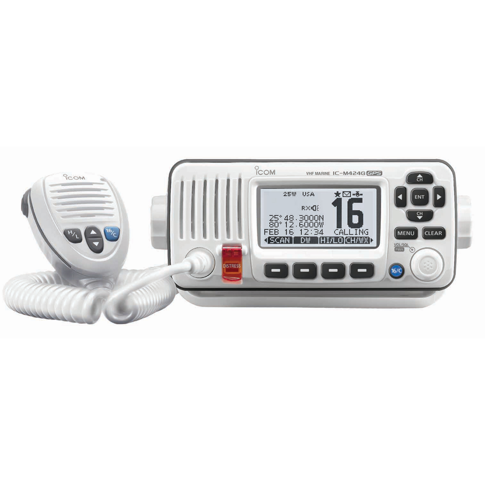 ICOM M424G VHF RADIO W INT GPS -WHITE by Icom