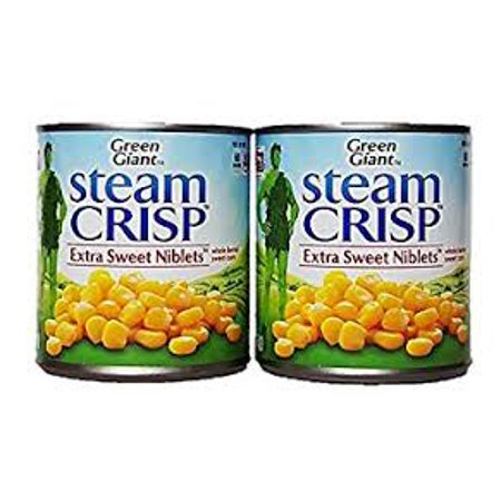Steam Crisp Extra Sweet Niblets. (Whole Kernel Sweet Corn - Pack of 2) ()